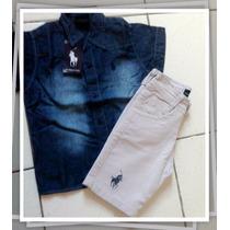 Camisa Blusa Social Infantil Polo Rl Jeans! Promoção