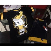 Conjunto Masculino Camiseta Tigor E Bermuda Marcas Variadas!
