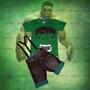 Conjunto Super Man, Homem Aranha , Capitão América, Hulk