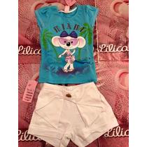 Conjunto Infantil Lilica Ripilica Original 2 Frete Grátis