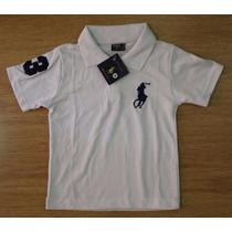 Atacado 10 Camisa Polo Infantil Hollister Ralph Lauren 2 12