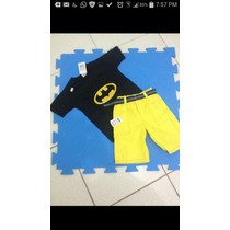 Conjunto Infantil Super Heróis! Batman Homem Aranha Hulk! Sp