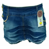 Shorts Saia Jeans Curto Com Elastano - Promoção