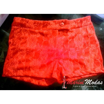 Shorts Renda Laranja - P/m/g - Barato