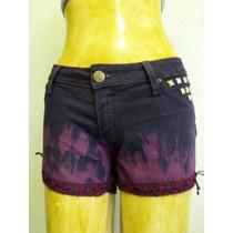 Short Lycra 42 Sawary Dip Dye (tie Dye) Degradê Lovely Lolla
