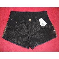Shorts Feminino Afront Jeans Estilo Pitbull Tamanho 40