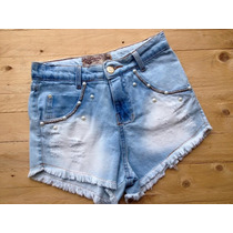 Shorts Jeans Cintura Alta Customizado