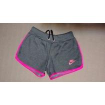 Shorts Feminino Moleton 100% Algodão Hollister, Nike 5 Peças