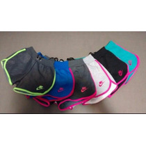 Kit 5 Peças Shorts Nike Feminino Varias Cores