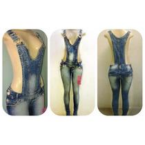 Macacão Jardineira Jeans Feminino Comprido