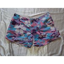 Short Feminino Com Flores Da Galera Do Surf Tamanho P