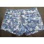 Shorts Short Jeans Manchado Curto Casual Basico Ziper Calor