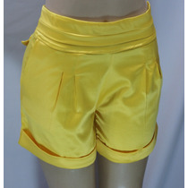 Short Social Bermuda Shortinho Amarelo - Pronta Entrega.