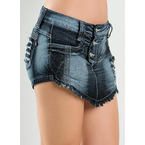 Short Saia Jeans Curto Destroyed Detonado Customizado