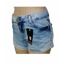 Shorts Jeans Feminino Carmim Manchado