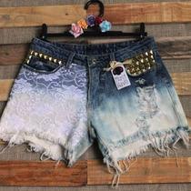Shorts Jeans Feminino Customizado Lindo Tamanho 38