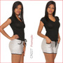Shorts Vermelho Jeans Bermuda Feminino Funk Rio Cn211 Br