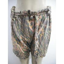Shorts Bermuda Saruel Oncinha Tam P-m Bom Estado