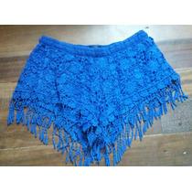 Short Renda Azul