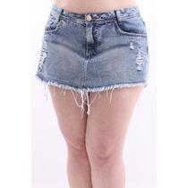 Shorts Saia Jeans, Shorts Saia Jeans Claro, Shorts Saia