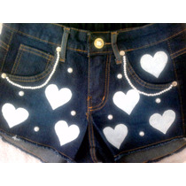 Shorts Customizados Cintura Alta Hot Pants