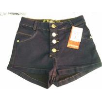Shorts Curto Hot Pants Cós Alto Moda Jovem Panicats