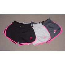 Shorts Feminino Nike Moleton Kit C/6 Peças Frete Gratis !!!