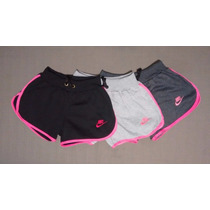 Shorts Feminino Nike Moleton Kit C/3 Peças,