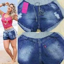 Shorts Jeans Com Moleton. Bermudas Lindas