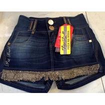 Shorts - Saia Pit Bull Jeans Com Bojo Removível No Bumbum