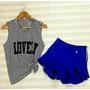 Short Curto Azul , Veste Super Bem , Short Lindo