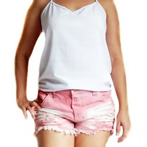 Short Jeans Rosa Cia Fashion