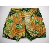 Shorts Bermuda Saruel Colorido Tam 38-40 Bom Estado