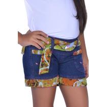 Shorts Jeans Infantil Menina Ref 760 Promoção Atacado
