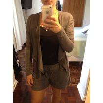 Conjunto Shorts Suede Casaqueto Blazer Suede Moda Blogueira