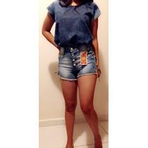 Short Jeans Cintura Alta Hot Pants Anita,paniquet Do 34ao44