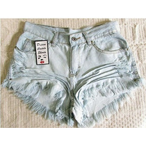 Short Jeans Customizado Detonado Destroyed Hot Pant
