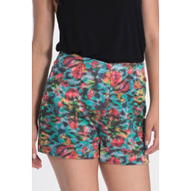 Shorts Hot Pants Feminino My Place Estampado Cintura Alta