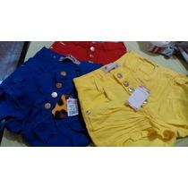 Shorts Jeans Hot Pants Colorido Lycra Promoção Frete Gratis