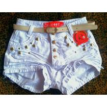 Bermuda Shorts Jeans Cintura Alta Hot Pants