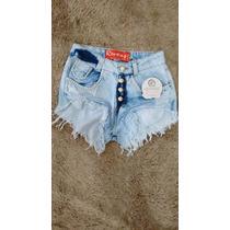 Shorts Jeans Coss Alto Cintura Alta Customizado