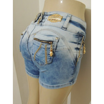 Shorts Afront Jeans Levanta Bumbum Estilo Pitbull Tamanho 40