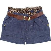 Shorts Jeans Infantil Oncinha - Cegonha Encantada
