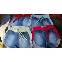 Kit Atacado 10 Shorts Jeans Com Moletom Feminino