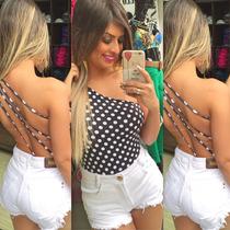 Shorts Jeans Sal E Pimenta Hot Pants Cintura Alta