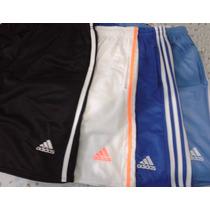 Kit 5 Bermudas Adidas Shorts Calção C/ Ziper Treino Esporte.