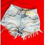 Shorts Jeans Hot Pants Customizados Com Strass E Correntes