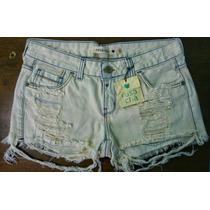 Short Jeans Rosa Chá Feminino 100% Original