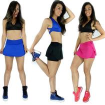Kit 5 Short Saia Tapa Bumbum Feminino Fitness E Academia