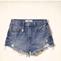 Hollister Short Jeans Feminino Tam W30 Eua / 40 Br